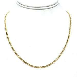 """14k Gold Thin 2mm Figaro Link Chain Necklace 18"""""""